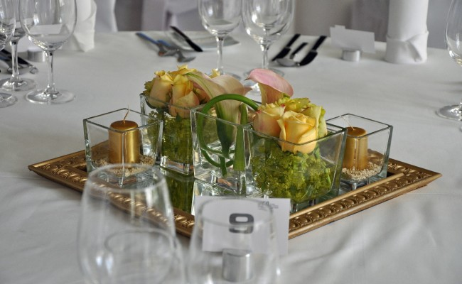 Hochzeit Blumenschmuck Tischschmuck