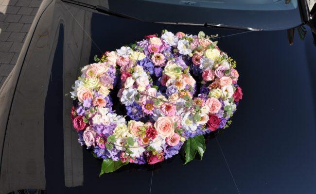 Hochzeit Autoschmuck Autoblumen